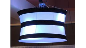 Image of a Lampshade-Black Stripes Spandex Giant