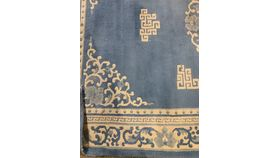 Image of a MEA Owned-Rug-Oriental-Light Blue and Cream 9'x6'