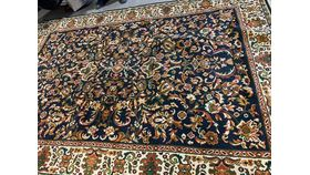 "Image of a Rug-Oriental-Navy, Tan, Green & Yellow-10'10""x7'7"""