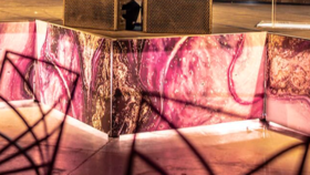 Image of a Stage Facade-Purple Agate
