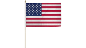 Image of a Flag-American-on sticks