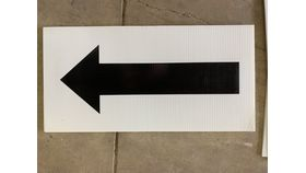Image of a Sign-Black Arrow