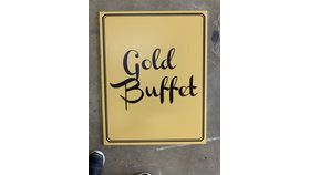 Image of a Sign-Buffet-Gold-Double