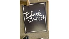 Image of a Sign-Buffet-Black