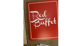 Image of a Sign-Buffet-Red