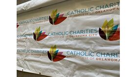 Image of a Banner-Step and Repeat-Catholic Charities