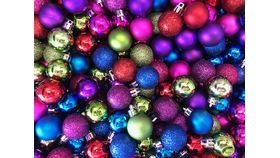 Image of a Vase Filler-Blue Green Pink Purple Mini Ornaments