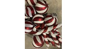 Image of a Vase Filler-Candy Cane Mini Ornaments