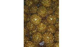 Image of a Vase Filler-Gold Glitter Ball Picks Tub