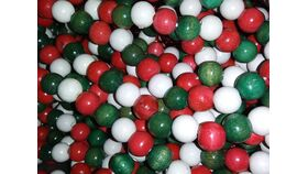 Image of a Vase Filler-Bead Garland-Red, Green White Tub
