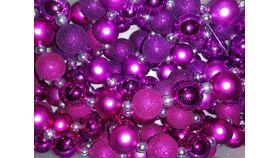 Image of a Vase Filler-Bead Garland-Pink & Purple Tub