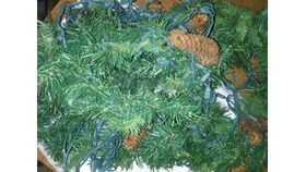 Image of a Vase Filler-Green Garland Picks