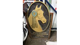 Image of a Morgan Horse Owned-Wooden Plaque