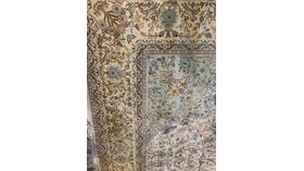 "Image of a MEA OWNED-Rug-Oriental-Tan, Green, & Blue with Birds-17'4""x10'7"""