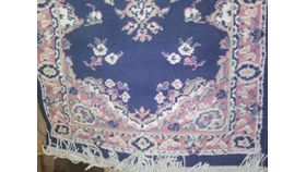"""Image of a Rug-Oriental-Navy & Pink-5'5""""x2'"""