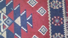"Image of a Rug-Oriental-Red & Navy 3'2""x2'"
