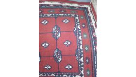 "Image of a Rug-Oriental-Red & Cream-7'5""x2'"