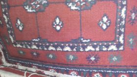 "Image of a Rug-Oriental-Red & Navy-5'7""x2'"
