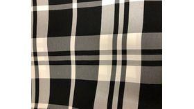 """Image of a 108""""R Black & White Plaid"""