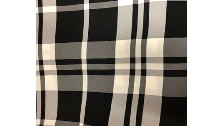 "Picture of a 108""R Black & White Plaid"