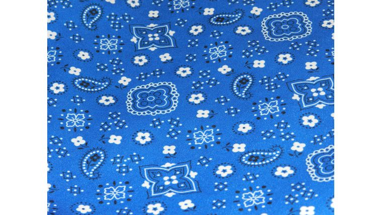 "Picture of a 108""R Blue Bandana"