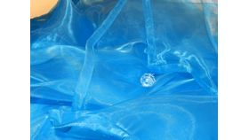 Image of a Blue Organza Overlay