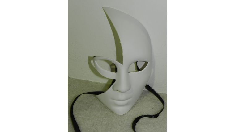 Picture of a Mask-Shiny Full Face Half Mask