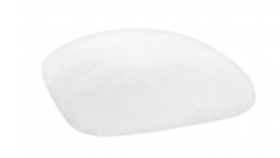 Image of a Chameleon Chair Cushion Cap-White Suede