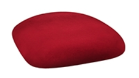 Image of a Chameleon Chair Cushion Cap-Cranberry Red Velvet