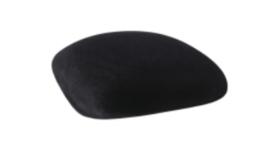 Image of a Chameleon Chair Cushion Cap-Black Velvet