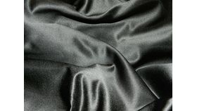 Image of a Black Satin Chair Bag