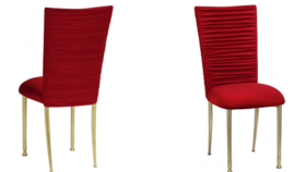 Image of a Chloe Red Velvet Chair Back