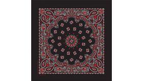 Image of a Black,Red & White Bandana