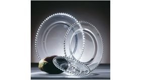 Image of a Charger-Belmont-Clear Beaded Glass