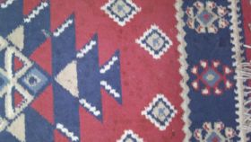 Image of a Rug-Oriental-Red & Navy-6'x2'