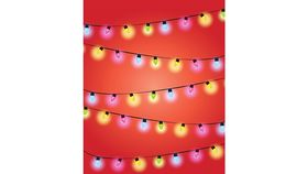 Image of a Backdrop-Christmas Light