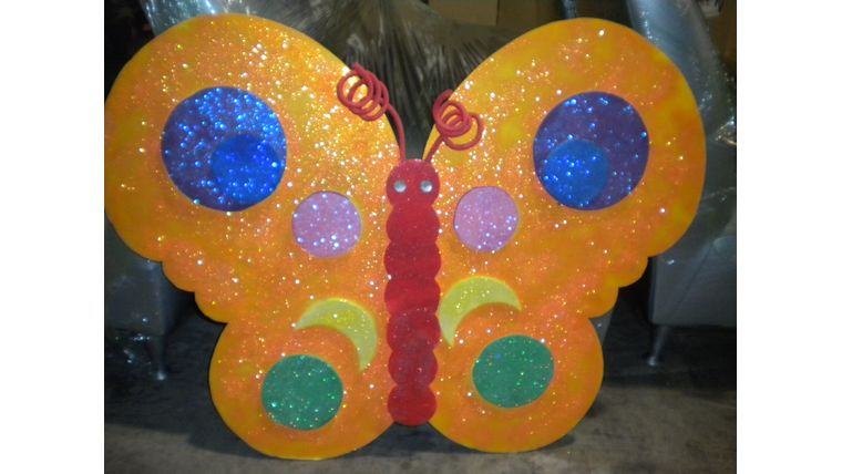 Picture of a Butterfly-Orange Glitter