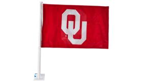 Image of a Flag-OU Car Window Flag