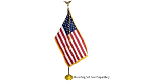 Image of a Flag-American-On Wooden Pole
