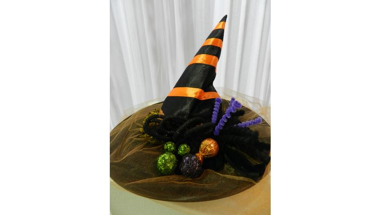 Picture of a Hat-Fancy Orange & Black Witch