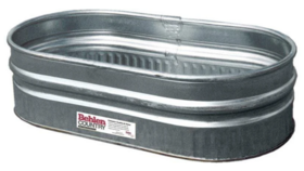 Image of a Water Trough-Oblong-Metal