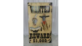Image of a 46x80 Wanted Cutout