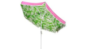 Image of a Umbrella-Green & Pink Pom Pom Lily Pulitzer