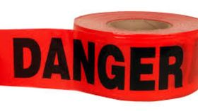 "Image of a Construction Tape-""Danger"""