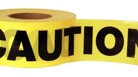 "Image of a Construction Tape-""Caution"""