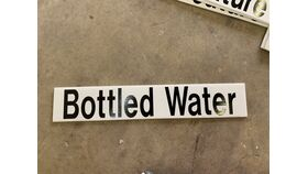 Image of a Sign-Bottled Water