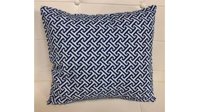 Image of a Pillow Covers-Athens-Blue&White