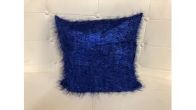 Image of a Pillow Cover-Royal Blue Eyelash