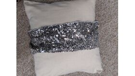 Image of a Pillow Band-Silver Sequin