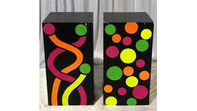 Image of a Pedestal-Black and Neon